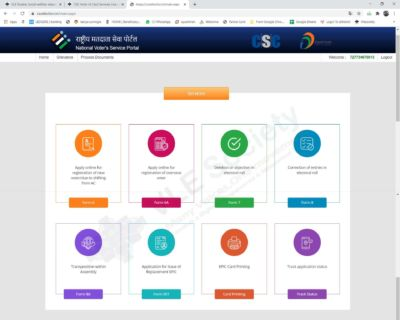 election services dashboard
