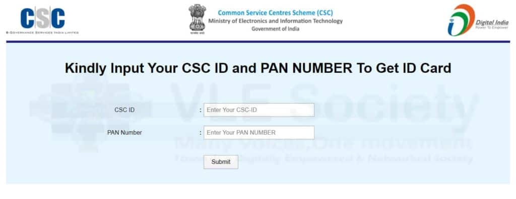 csc vle id card download