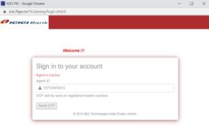 agent is inactive in csc icici bank bc