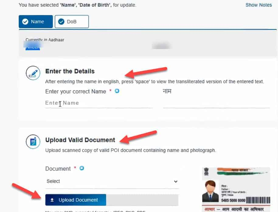 Complete correction and upload documents vle society