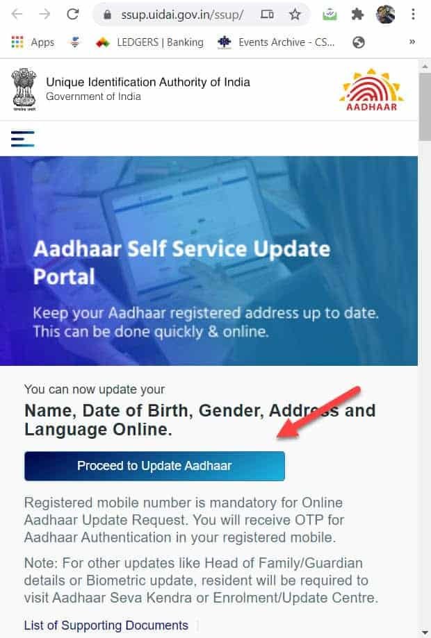 Online Aadhaar Card Correction Change Date of Birth , Name, address vle society