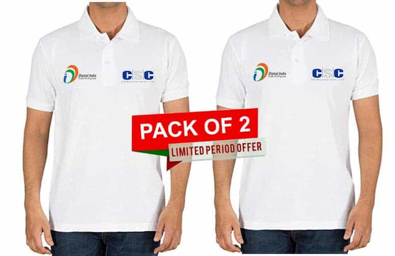 CSC Collar T Shirt Pack of 2 vle society