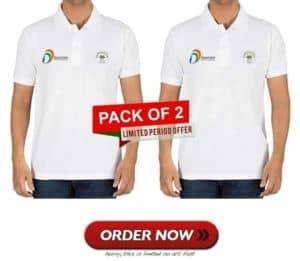 csc ayushman bharat pack of 2 t shirt order vle society